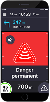 Alerte danger application Coyote