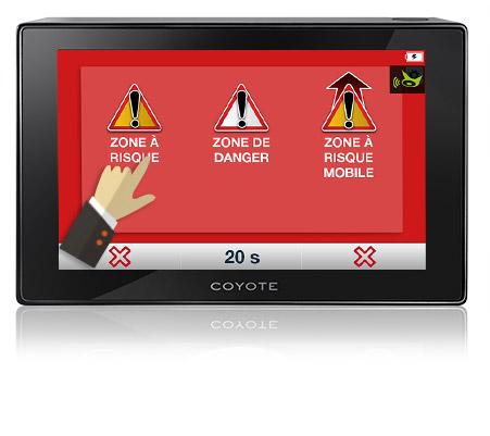 écran NAV zone de danger
