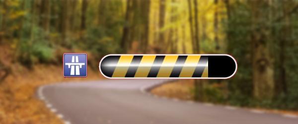Quelle est la taille d'une zone d'alerte rencontrée sur autoroute ?