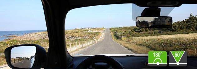 Le champ visuel d'un conducteur est d'environ 180° à l'arrêt et 60° à 80km/h