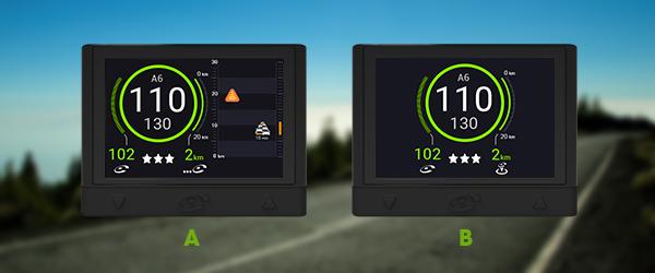 Lorsque vous êtes sur l'autoroute, quelle interface apparaît sur votre écran ?
