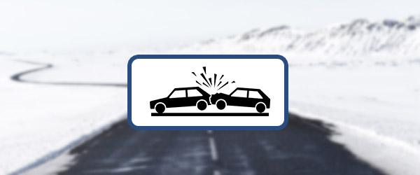 La chaussée était glissante à cause du verglas et vous avez percuté le véhicule devant vous. Êtes-vous responsable?