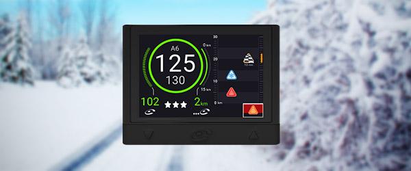 Dans combien de kilomètres rencontrerez-vous l'alerte zone enneigée ?