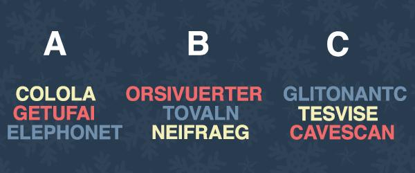 Saurez-vous retrouver le groupe d'anagrammes correspondant aux facteurs à risque sur la route ?