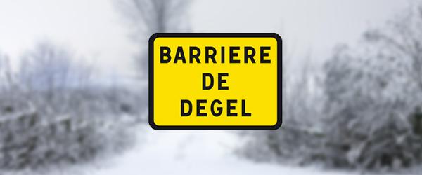 Qu'est ce qu'une barrière de dégel ?