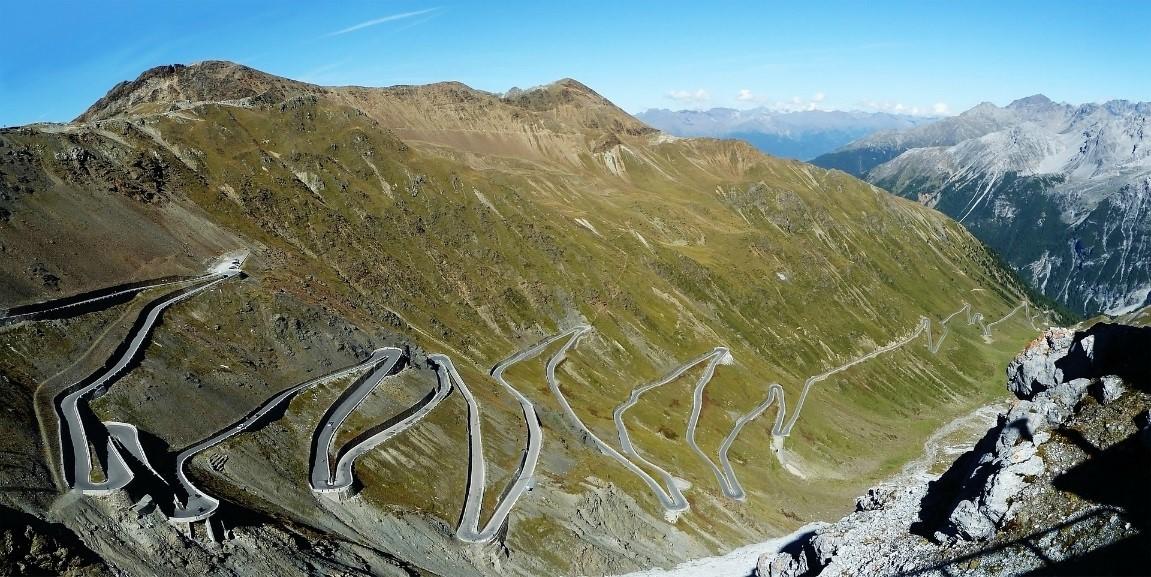 Col de Stevio dans les Alpes