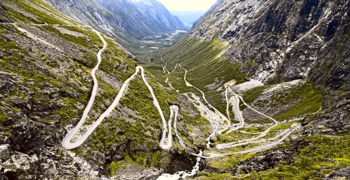 Route des trolls en Norvège