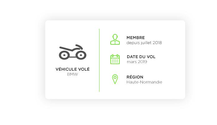 Une moto BMW dérobée au Havre