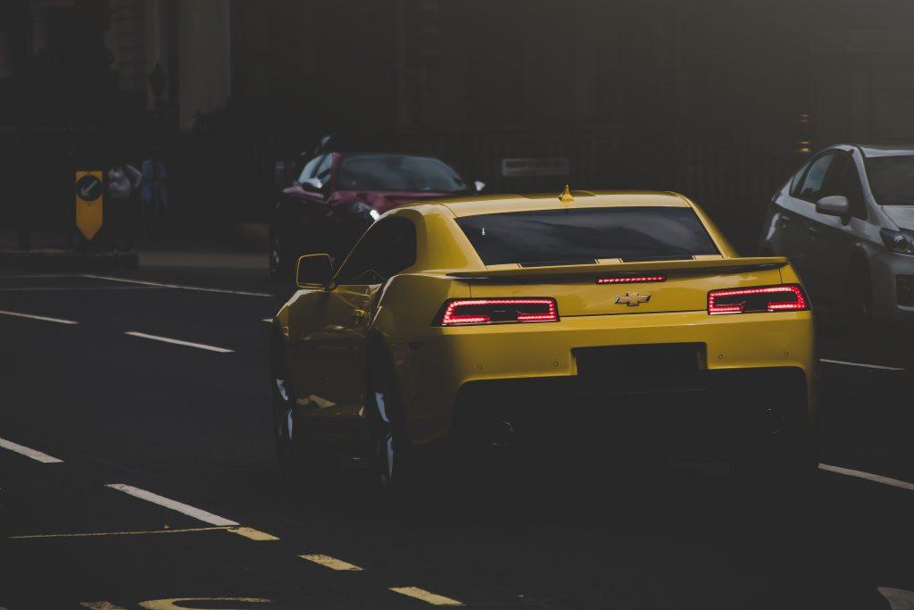 Chevrolet Camaro jaune des transformers
