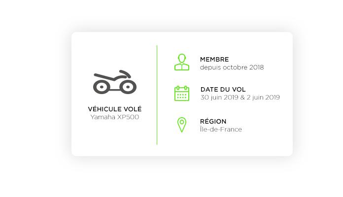 Un scooter Yamaha en partance pour l'Afrique de l'Ouest
