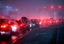 Embouteillages dans la nuit